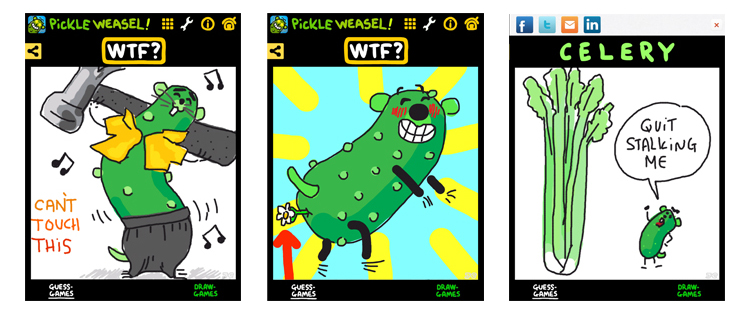 PickleWeasel Draw-Games screenshots.